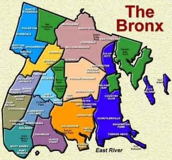 Map Of New York Ny Neighborhoods.A Look At The Bronx S Cb 10 Community And Commerce The New York
