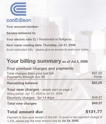 Direct Energy Pay As You Go >> Reviewing Your Con Ed Bill - Understanding What You Use ...