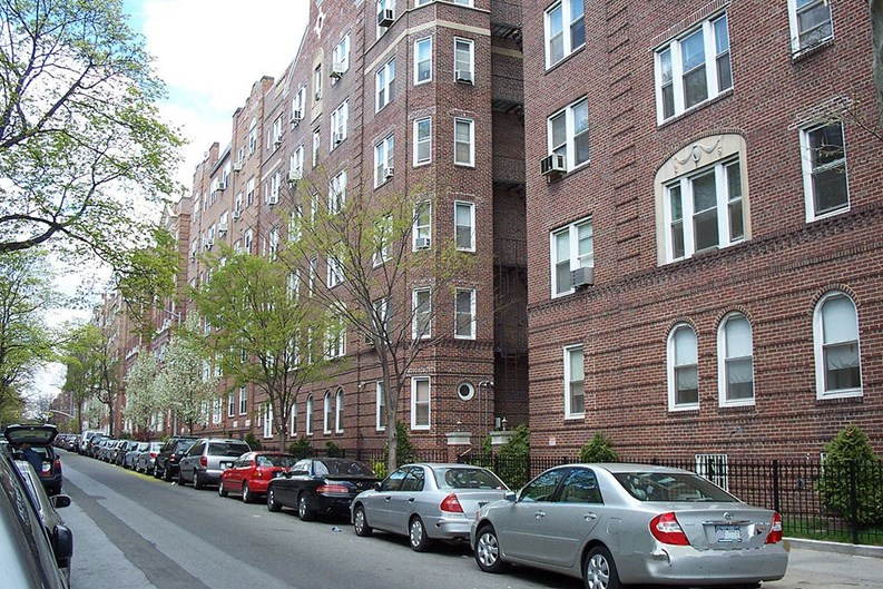 A typical residential street in Jackson Heights, Queen (Jleon via Wikimedia Commons)