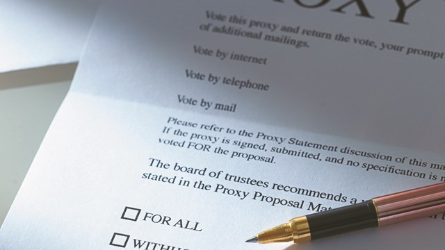 Specific Rules Must Be Followed - Voting by Proxy - The New